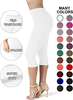 SATINA High Waisted Ultra Soft Capris Leggings - 20...