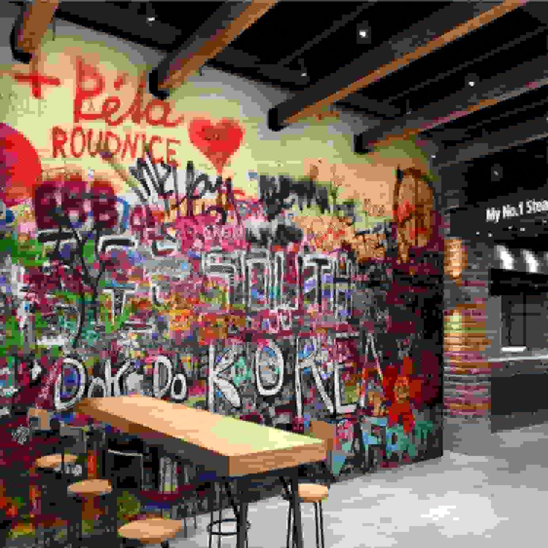 100% garantía genuina de contador Wiwhy Wiwhy Wiwhy Foto 3D Personalizada Lpaper Gótico Graffiti Mural Palabras Abstractas En Color Lpaper Para La Decoración De La Cafetería Lpaper No Tejido Lpaper-200X140Cm  tomar hasta un 70% de descuento