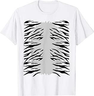 Cool White Tiger Tummy -  Kids Costume - Cute Halloween T-Shirt