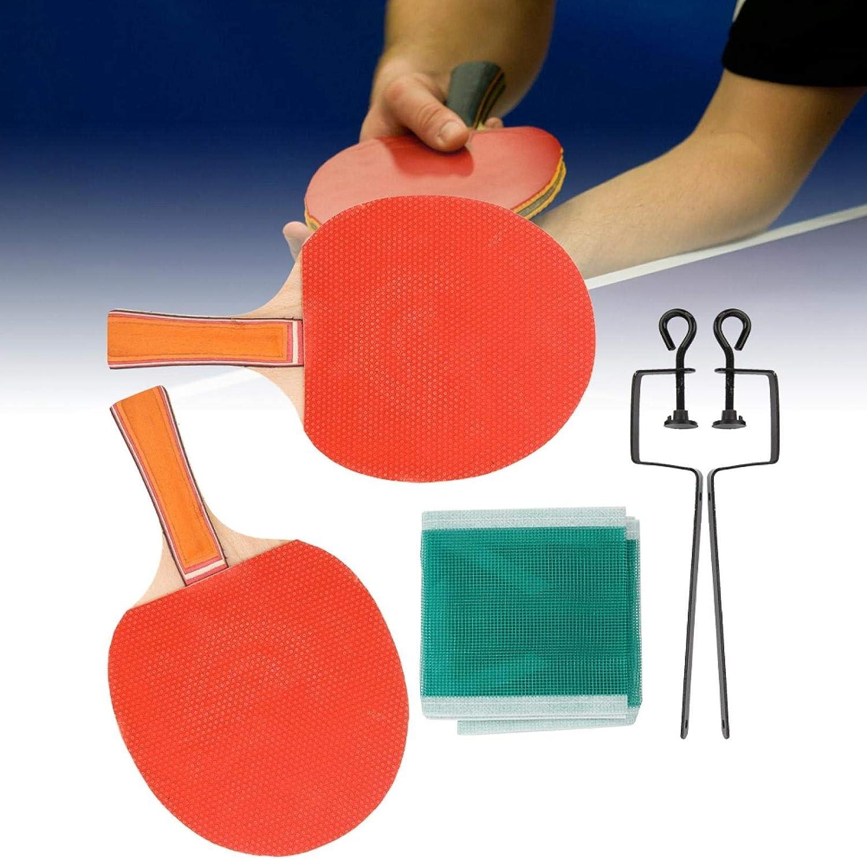 FOLOSAFENAR Durable Paddle Bat Ping Pong Set Equipo Deportivo Placa Base de Madera Pura para Tenis de Mesa