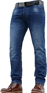 Crosshatch New Mens Original Designer Slim Fit Jeans Pants Trousers in All Waist and Leg Sizes