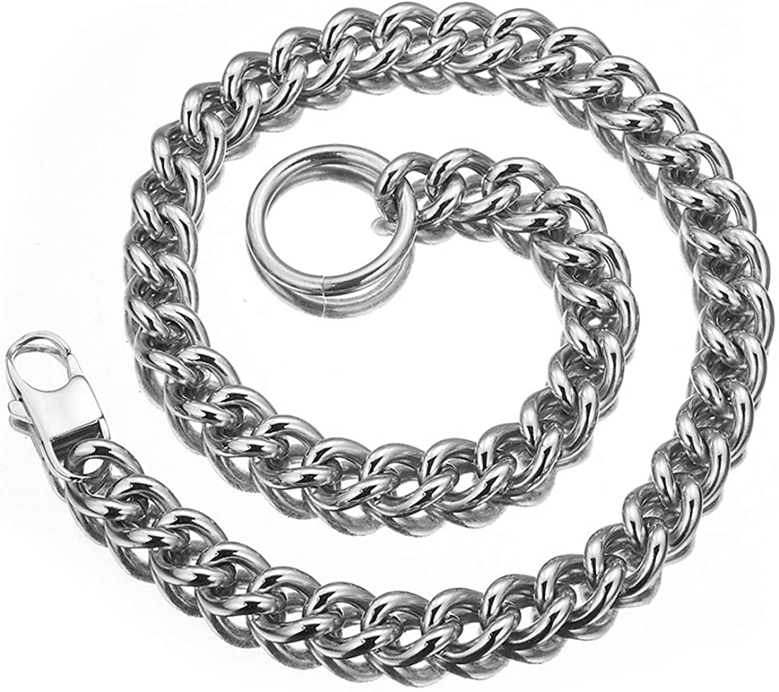putouzip Womens Ranking TOP10 Choker High order with Tail Link Steel Stainless 10mm Cuban
