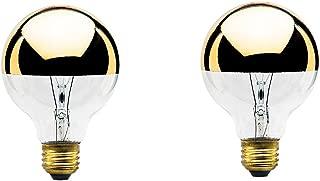 40-Watt G25 Globe Shape Light Bulb, Half Gold, Medium Base (2-Pack)