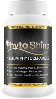 PhytoShine- Premium Phytoceramides- The Ultimate Beauty Supplement- Promote Healthy Hair, Skin, and Nails,Boost Collagen Production, Maintain Healthy Skin Hydration