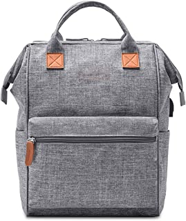 Casual Daypack,Water Resistant USB Charing Lightweight Laptop Backpack,Travel Outdoor Sports Bags for Men Women Gray