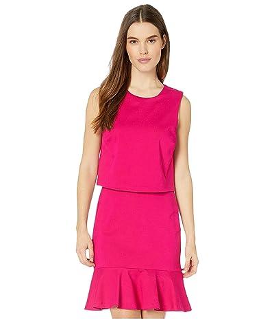 Nicole Miller Ponte Pop Over Dress (Fuchsia) Women