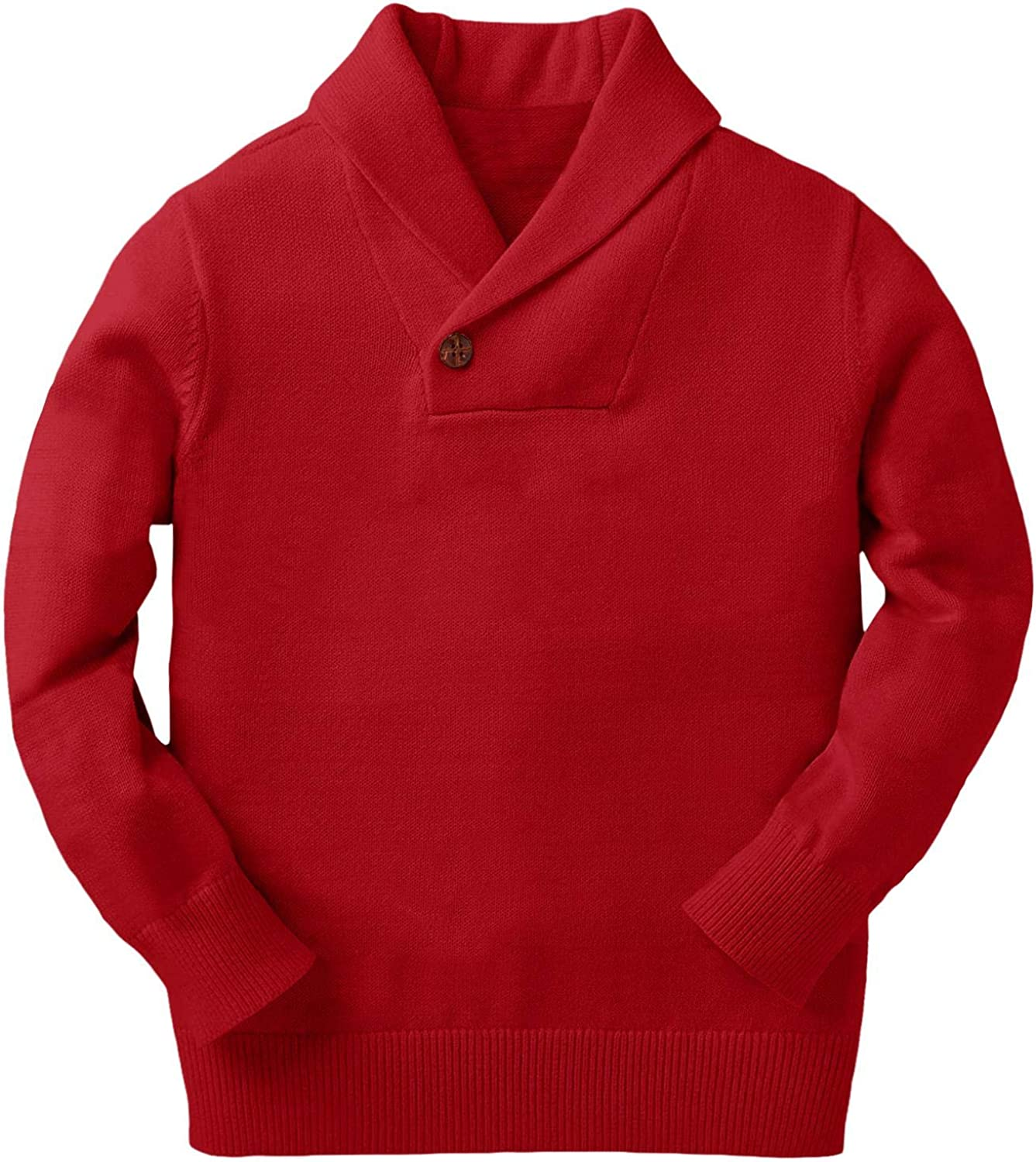 Gioberti Kids and Boys Shawl Collar Pullover Knitted Sweater with Toggle Button Closure