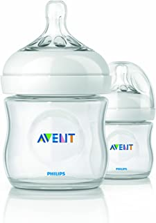Philips AVENT BPA Free Natural Polypropylene Bottle, 4 Ounce, 2 Pack