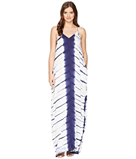 Pure Deluxe Tulum Generous Fir Tank Maxi Dress