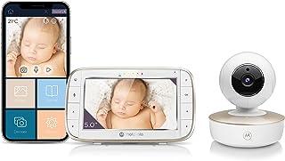 Motorola MBP855SCONNECT Video Baby Monitor 5 Inch en Wi-Fi Hubble Connected App voor Smartphones &Tablets - Wit - UK VERSIE