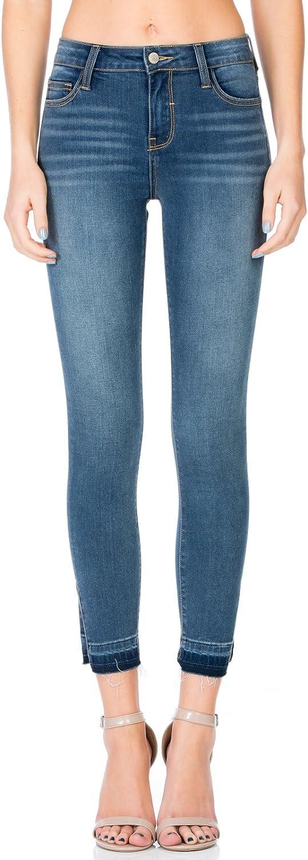 Cello Jeans Mid Rise Side Slit Skinny