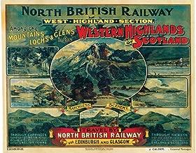 North British Railway West Highlands Scotland Train Vintage Ad Cool Wall Decor Art Print Poster 12x18