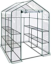 BenefitUSA Outdoor Mini Walk-in Greenhouse for Plants/Flowers/Vegetables House Yard (PVC, 56''x56''x76.7'')