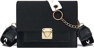 حقيبة كتف صغيرة للنساء مع حزام عريض قابل للتعديل
