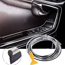 EJ's SUPER CAR Car Interior Moulding Trim, 16FT(5M) Electroplating Color Film Car Interior Exterior Decoration Moulding Trim Rubber Seal Protector Fit for Most Car(Gray)