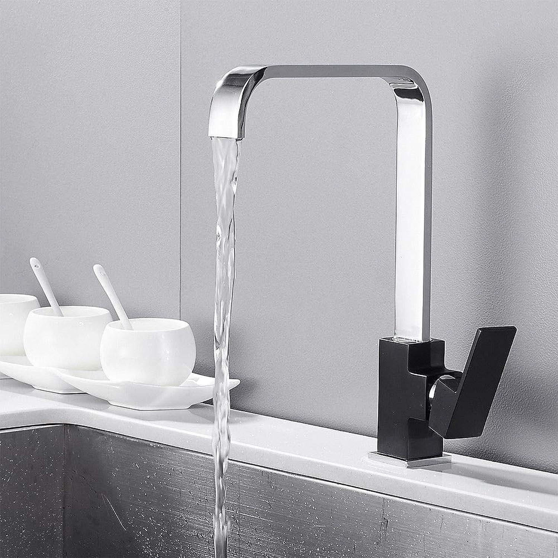 Generic Küchenarmatur, quadratisch, quadratisch, für Waschbecken, Badezimmer, modern, quadratisch, mit einem Hebel, Wasserfall-Wasserhahn, Einhebelmischer, Wasserhahn