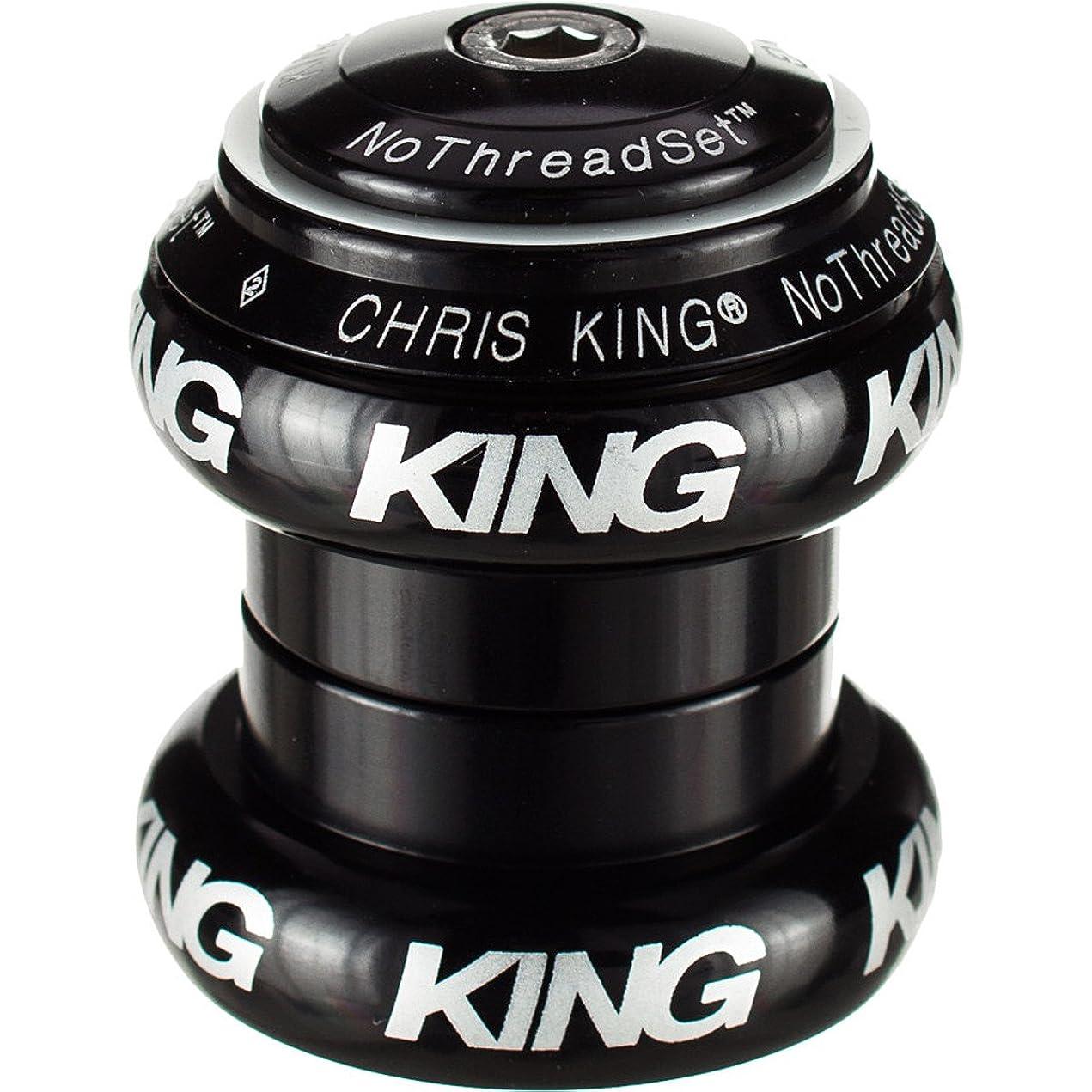 反抗阻害するフィラデルフィアクリスキング(Chris King) 1-1/8 NTS GL BOLD BLK(NothreadSet白ロゴ) FB0044 ブラック 1-1/8