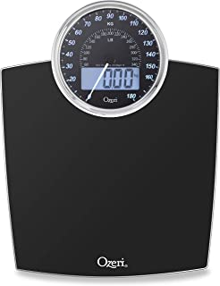 Ozeri Rev 400 lbs (180 kg) Bathroom Scale with Electro-Mechanical Weight Dial and 50 gram..