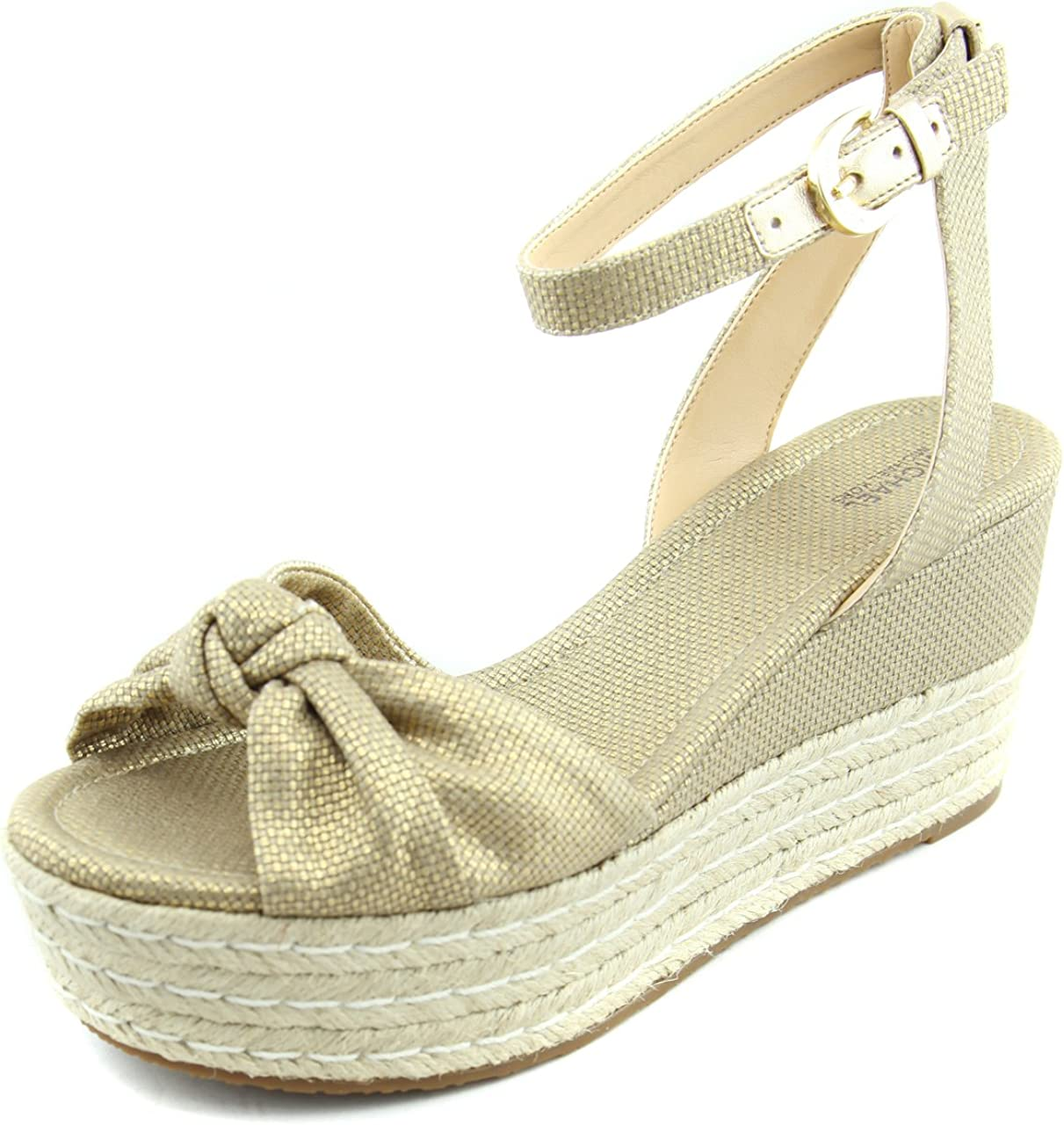 Save money Michael Kors Maxwell Mid Leather Wedge Sandals Canvas Challenge the lowest price of Japan ☆
