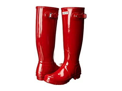 Hunter Original Tall Gloss Rain Boots (Military Red) Women