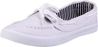 Enimay Women's Original Style Slip-On Casual Canvas Boat Shoe Loafer Flats