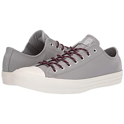 Converse Chuck Taylor(r) All Star(r) Limo Leather Ox (Dolphin/Dark Burgundy/Egret) Athletic Shoes