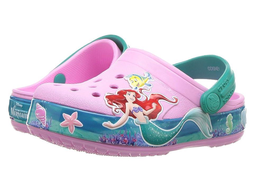 Crocs Kids Crocband Princess Ariel Clog (Toddler/Little Kid) (Carnation) Girls Shoes