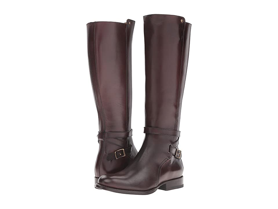 Frye Jordan Strap Tall (Dark Brown Smooth Veg Calf) Women
