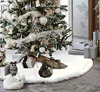 fluffy white tree garland