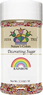 India Tree Nature's Colors Rainbow Mix Decorating Sugar, 3.3 Ounce