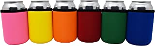 Sponsored Ad - TahoeBay Premium Can Sleeves - 5mm Thick Neoprene Beer Coolies for Cans - Blank Drink Coolers (Multicolor, 6)