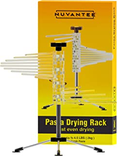 Nuvantee  Drying Rack - Noodle Dryer - Spiral Design Holds 4.5 Pounds (2 KG) of Fresh Pasta - Easily Dries All Long Noodles - Features 16 Food Grade BPA free Rods