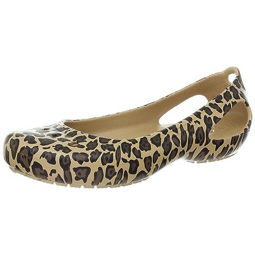823005d3df402d Crocs Women s Kadee Leopard Flat