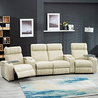 Heavens Tvcz Home Theater Seat Power Sofa PU Leather Sectional Sofa Seating Reclining Recliner Comfortable Adjustable for Great for Watching TV, Sleeping, Reading Or Simply Relaxing.