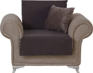 Chiara Rose Couch Covers for Dogs Sofa Cushion Slipcover 3 Seater Furniture Protectors Futon Cover, Armchair, Diamond Brown