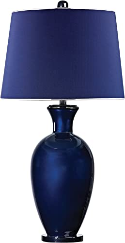 """lowest Dimond Lighting D2515 Glass Lamp, 17.5"""" x outlet online sale 17.5"""" x 33.5"""", Navy online Blue outlet online sale"""