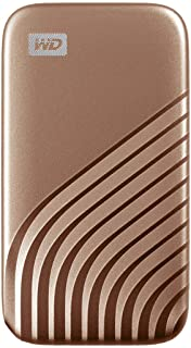 WD 1TB My Passport SSD External Portable Solid State Drive, Gold, Up to 1,050 MB/s, USB 3.2 Gen-2 and USB-C (USB-A for old...