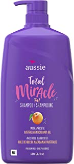 Aussie Total Miracle with Apricot & Macadamia Oil, Paraben Free Shampoo, 26.2 fl oz Pack of 4