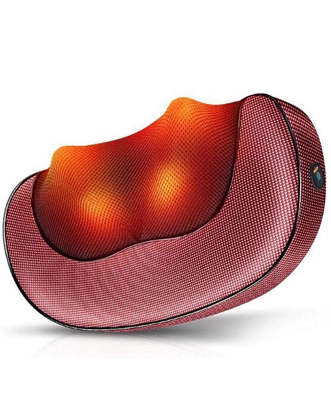 時折そこ損なう背中の痛みの救済 - 振動マッサージ頚椎バックウエストボディエレクトリックと肩用マッサージ枕、腰、ふくらはぎをショルダー