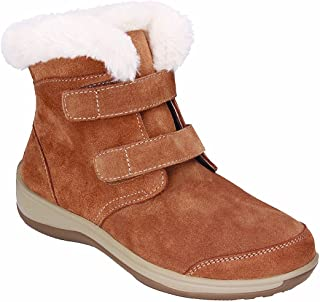 Orthofeet Plantar Fasciitis Pain Relief Arch Support Orthopedic Diabetic Women's Strap Leather Boots Florence