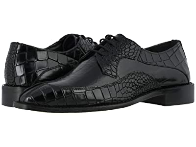 Stacy Adams Trimarco Leather Sole Moe Toe Oxford (Black) Men