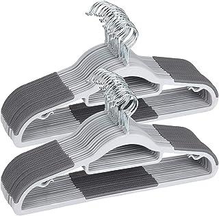 OIKAPlasticHangers50PackDryWetClothesHangerswithSuperNon-SlipPads�..