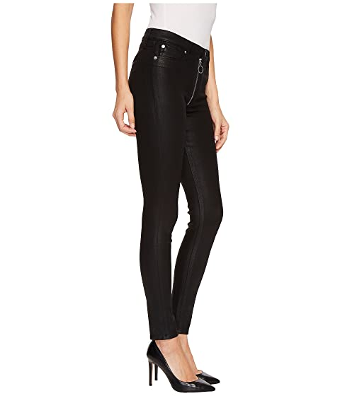 in Zipper with High Black Coated Skinny Rise Exposed Hudson Lexi f0TwPP