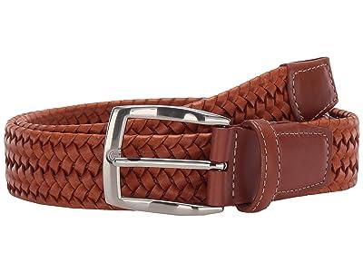 Torino Leather Co. 35 mm Italian Woven Stretch Leather (Carmel) Men