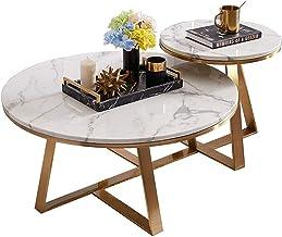 Living Room Tables Modern Simple Round Coffee Table/Side Table Metal Golden Frame & Marble Desktop Office Living Room Bedr...