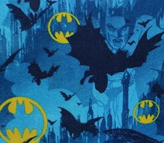 Fleece Fabric Printed Anti Pill DC Comics Batman CAVE Blue Licensed