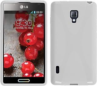 cfe60bde391 PhoneNatic Funda de Silicona Compatible con LG Optimus L7 II - X-Style  Blanco -