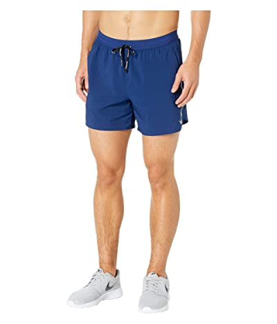 Nike Flex Stride Shorts 5 BF (Blue Void/Heather/Metallic Silver) Men