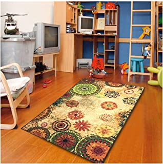 Furnish my Place Floral Abstract Area Rug