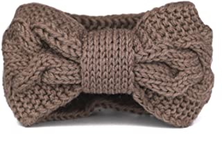 Flammi Women's Cable Knit Headband Bowknot Head Wrap Ear Warmer